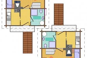 Hóbort üdülő: I-II Apartman faház