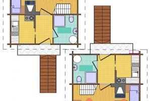 Hóbort üdülő: V-VI Apartman faház