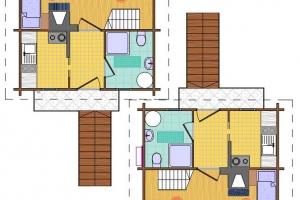 Hóbort üdülő: VII-VIII Apartman Faház