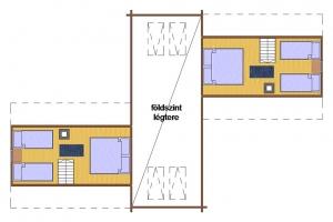 Hóbort üdülő: IX-X VIP Apartman faház emeleti rajza